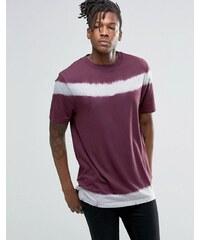 ASOS - T-shirt avec lien à nouer et col à bord large - Violet