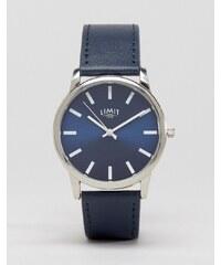 Limit - Marineblaue Uhr, exklusiv bei ASOS - Blau