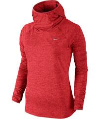Nike Damen Laufshirt Element Hoody Langarm rot
