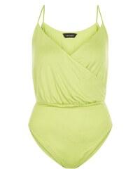 New Look Body vert citron effet cache-cœur