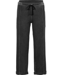 RAINBOW Pantalon sweat effet usé noir femme - bonprix