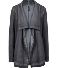 RAINBOW Sweat-Cardigan langarm in grau für Damen von bonprix