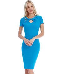 Goddess Pouzdrové šaty KIRA TYRKYS Barva: Tyrkysová,