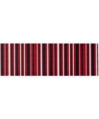 Tapis en 100% polyamide - Rayures rouge de Astra