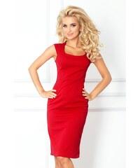 NUMOCO Přiléhavé červené šaty 53-17 velikost: XL, odstíny barev: červená
