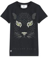 Philipp Plein T-Shirt mit Motiv und Schmucksteinen