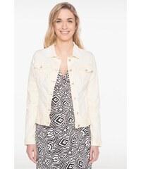 Veste en jean délavé boutonnée Jaune Coton - Femme Taille 38 - Bréal
