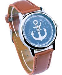 Lesara Armbanduhr mit Anker-Motiv - Braun