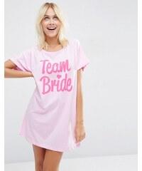 ASOS BRIDAL - Team Bride - Oversize-T-Shirt - Rosa
