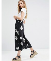 ASOS - Jupe-culotte fleurie à bretelles - Multi