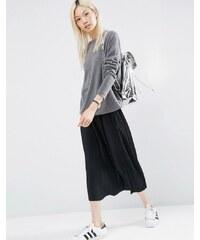 ASOS - Jupe mi-longue plissée en jersey - Marron