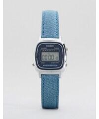 Casio - Montre avec bracelet en cuir - Bleu LA670WEL-2A2EF - Bleu