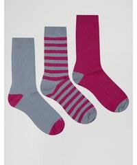 Ciao - Italy - Socken im 3er-Set aus Modalbaumwolle in Grau und Rosa - Grau