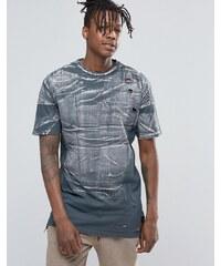 Hand Of God - T-shirt usé à ourlet asymétrique - Gris