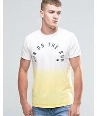 Hollister - Sun On The Run - T-shirt tie-dye coupe classique avec imprimé - Jaune