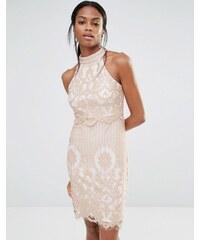 Missguided - Kleid mit Spitzenlage - Rosa
