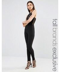Naanaa Tall - Combinaison style bandage avec œillets - Noir