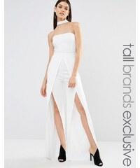 Naanaa Tall - Combinaison dos nu avec jambes fendues - Blanc