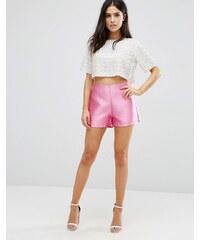 Pixie & Diamond - Jacquard-Shorts - Rosa