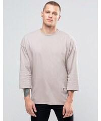 Religion - Sweatshirt mit 3/4-Ärmeln und Rundhalsausschnitt sowie tiefer Schulter - Rosa