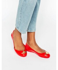 Vivienne Westwood for Melissa - Space Love - Chaussures plates motif orbe - Rouge - Rouge