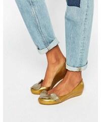 Vivienne Westwood for Melissa - Utragirl - Chaussures plates motif chérubin - Éclat doré - Doré