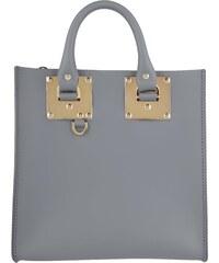 Sophie Hulme Sacs portés main, Albion Square Saddle Leather Tote Charcoal en gris