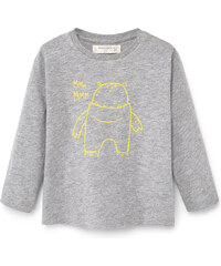 MANGO BABY Baumwoll-T-Shirt Mit Bildaufdruck