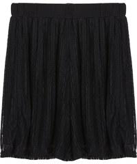Lesara High Waist-Shorts mit Spitze - Schwarz - S