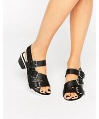 Eeight - LIma - Schwarze Sandalen mit Schnallen - Schwarz