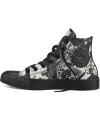 Converse černo-béžové dámské boty Chuck Taylor All Star Parchment/Black kotníkové