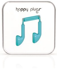 Happy Plugs tyrkysová sluchátka Earbud Turquoise
