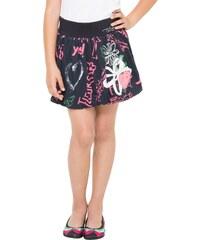 Desigual černá dívčí sukně Trazos