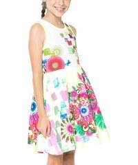 Desigual fosforově žluté dívčí šaty Harare