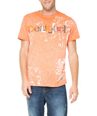 Desigual oranžové pánské triko Fresh-T