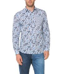 Desigual černo-modrá pánská košile Xavier