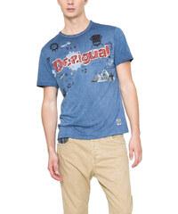 Desigual modré pánské triko Tkat Branding