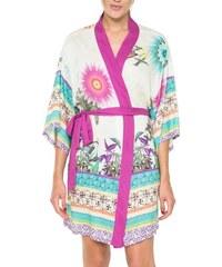 Desigual barevné domácí kimono Botanical Dream