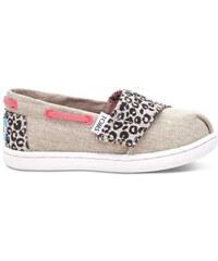 ea3180509bb Toms béžové dětské boty Bimini Cheetah Metallic Linen - 23