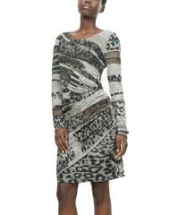 Desigual šedé vzorované šaty Rosaura