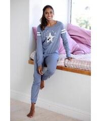 Große Größen: Buffalo Langer Pyjama im Sports-Look, grau, Gr.32/34-44/46