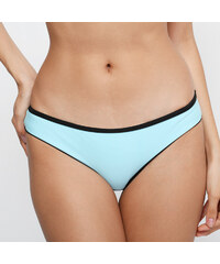 Lesara Dreifarbiger Bandeau-Bikini mit Reißverschluss - Türkis - S