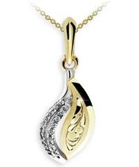 Danfil Zlatý dámský přívěsek DF 3116, žluté zlato, s briliantem