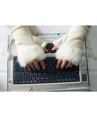Fuzhou Jewerly Elegantní rukavice bez prstů s kožíškem