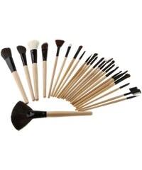 Shimia sada 24 kusů kosmetických dřevěných štětců na líčení