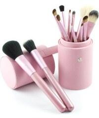Shimia sada 12 kusů kosmetických štětců v růžové tubě