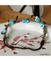 Cixi Květinová čelenka do vlasů modrá