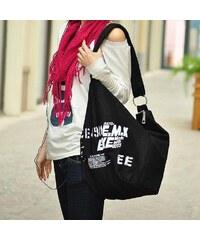 Lifestyle E.M.K dámská plátená taška černá