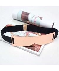 Lifestyle Zlatý široký kovový dámský pásek 2