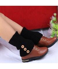 Cixi Pletené návleky na nohy černé 40 cm